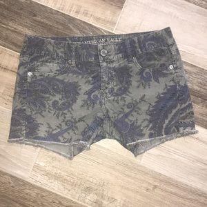 American Eagle Corduroy Paisley Shorts